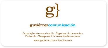 Tarjeta de visita de Gutiérrez Comunicación